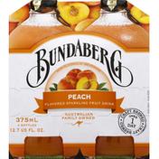 Bundaberg Brewed Drinks Sparkling Fruit Drink, Peach Flavored