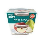 Meijer Pureed Baby Food, Apple & Pear