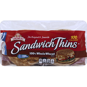 Brownberry/Arnold/Oroweat Rolls, 100% Whole Wheat, Pre-Sliced
