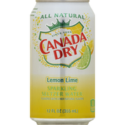 Canada Dry Seltzer Water, Sparkling, Lemon Lime Flavored