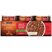 Pro Plan Cat Wet Savor Adult Beef & Chicken Entree in Gravy Cat Food