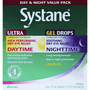 Systane Eye Relief, Daytime/Nighttime, Day & Night Value Pack