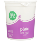 Food Club Plain Lowfat Yogurt