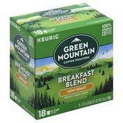 Green Mountain Coffee, 100% Arabica, Light Roast, Breakfast Blend, K-Cup Pods