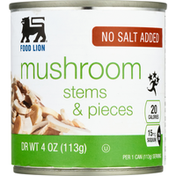 Food Lion Mushroom, Stems & Pieces
