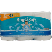 Angel Soft Bathroom Tissue, Scented Tube, Fresh Linen Scent, Mega Rolls, 2 Ply
