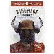 Kingmade Beef Jerky, Premium, Flank Steak, Buffalo Style