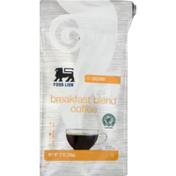 Food Lion Coffee, Breakfast Blend, Medium, Ground, Bag