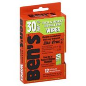 Bens Tick & Insect Repellent, Wipes