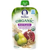Gerber Organic 2 Nd Foods 2nd Foods Organic Fruit & Grain Pear & Pomegranate with Mixed Grains Baby Food