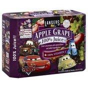 Langers Juice, Apple Grape, 10 Pack, Box