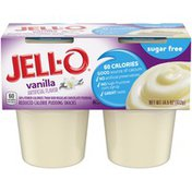 Jell-O Vanilla Sugar Free Ready-to-Eat Pudding Cups Snack