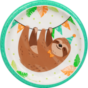 Party Creations Plates, Sloth Party, Sturdy Style