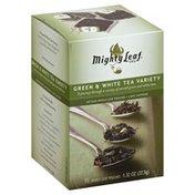 Mighty Leaf Green & White Tea Variety, Artisan Whole Leaf Pouches