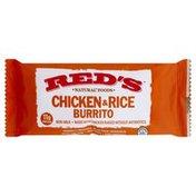 Reds Burrito, Chicken & Rice