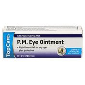 TopCare Sterile Lubricant Pm Eye Mineral Oil 20%, White Petrolatum 80% Nighttime Relief For Dry Eyes Plus Protection Ointment