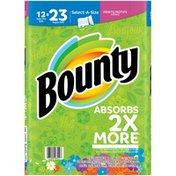 Bounty Select-A-Size Paper Towels, Print, 12 Super Plus Rolls = 23 Regular Rolls Towels/Napkins