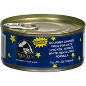 Solid Gold Gourmet Canned Food For Cats,Chicken Turkey,white Fish & Liver Formula