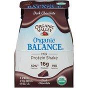 Organic Valley Milk Protein Shake, Dark Chocolate, 4 Pack