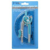 For Keeps Protractor And Compass Set, Blister Pack