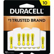 Duracell Batteries, Zinc Air, 10, 12 Pack