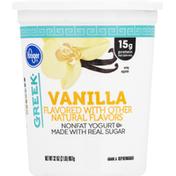 Kroger Yogurt, Greek, Nonfat, Vanilla