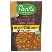 Pacific Organic Harissa-Spiced Lentil Soup with Chicken Bone Broth