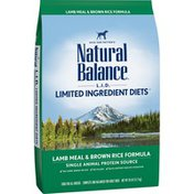 Natural Balance Dog Food, Lamb Meal & Brown Rice Formula