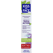 Kiss My Face Toothpaste, Fluoride Free, Triple Action, Fresh Mint, Paste