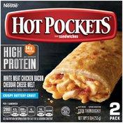 Hot Pockets High Protein Chicken Bacon Cheddar Cheese Melt Frozen Snacks