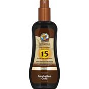 Australian Gold Spray Gel Sunscreen SPF 15 with Instant Bronzer