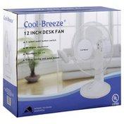Cool Breeze Desk Fan, 12 Inch
