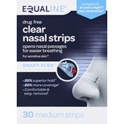 Equaline Nasal Strips, Drug Free, Clear, Medium
