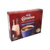 Carnation Milk Chocolate Flavor Instant Hot Chocolate Mix in Packets