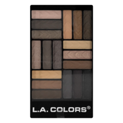 L.A. Colors Glam Palette 18 Color Eyeshadow CES750 Downtown Brown