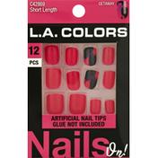 L.A. Colors Artificial Nail Tips, Short Length, Getaway