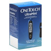 One Touch UltraMini, Blood Glucose Monitoring System, Blue, Box