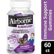 Airborne® Elderberry Gummies - Gluten-Free Immune Support Supplement With Vitamins C, D & E