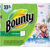 Bounty Paper Towels, Disney Frozen Print, 2 Big Rolls = 33% More Sheets Towels/Napkins
