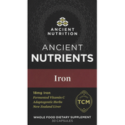 Ancient Nutrition Iron, 18 mg, Ancient Nutrients, Capsules