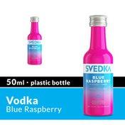 SVEDKA Blue Raspberry Flavored Vodka Mini Plastic Bottle
