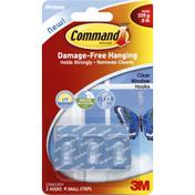 3M Command Hooks, Clear  Window