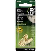 Hillman Group Hangers, Safety, Brass Finish