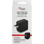 Fuse Charger, Wall, Dual Port USB