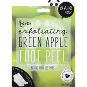 Oh K! Foot Peel, Exfoliating, Green Apple