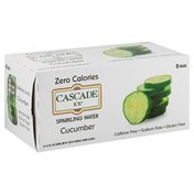 Cascade Ice Sparkling Water, Cucumber, 8 Pack