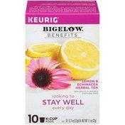 Bigelow keurig Benefits Lemon & Echinacea Benefits K-Cup Pods Lemon & Echinacea Herbal Tea