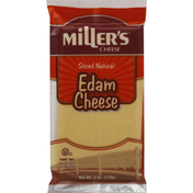 Miller's Cheese Cheese, Edam, Sliced Natural