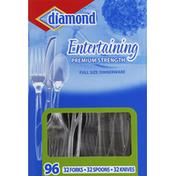 Diamond Dinnerware, Premium Strength, Full Size,