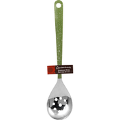 Cocinaware Spoon, Green, Stainless Steel, Slotted